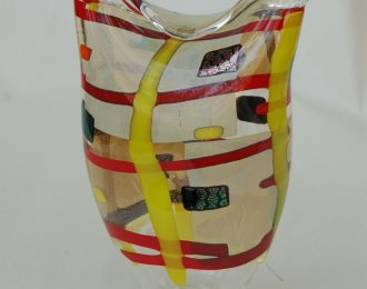 Vessel Clear Yellow Red Folded Top (2014)